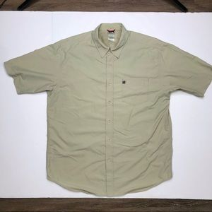 The North Face vented tan button shirt